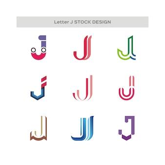 Letter j stock design logo