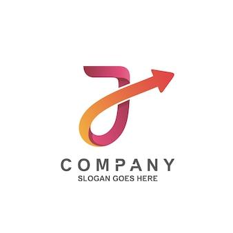 Letter j with arrow logo