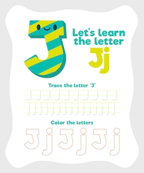 Letter j worksheet template
