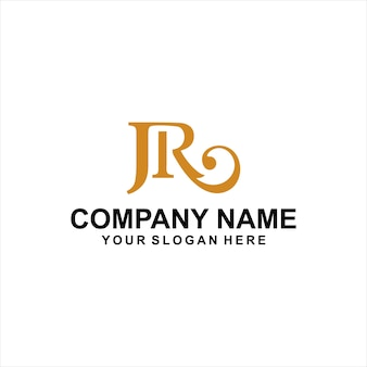 Letter jr logo vector