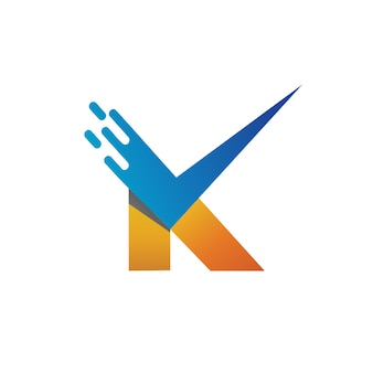 Letter k checklist logo vector