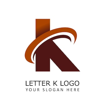 Letter k circle logo