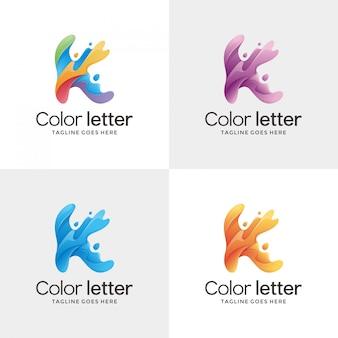 Letter k contour logo