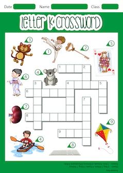 Letter k crossword concept