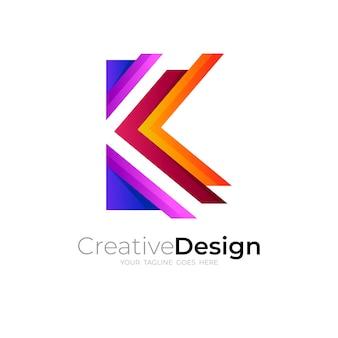 文字kのロゴとシンプルなデザインのベクトル