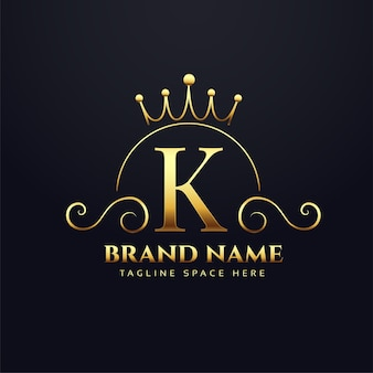 Letter k logo concept for your royal brand