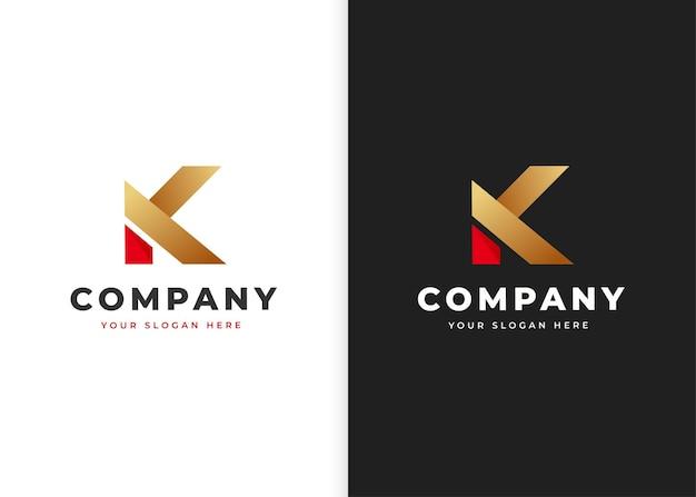 편지 k 로고 디자인 템플릿입니다. 벡터 일러스트