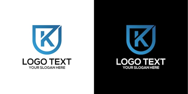 文字kロゴデザインベクトルプレミアムベクトル