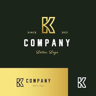 Letter k logo modern style outline