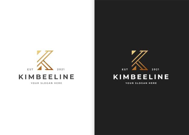 文字k高級ロゴデザインテンプレート