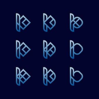 Letter k set logo design