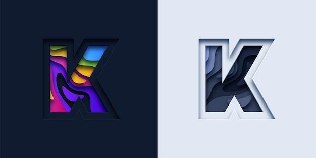 文字kタイポグラフィロゴ