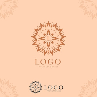 Letter l abstract flower mandala logo icon