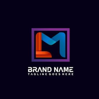 文字lとmのロゴデザイン