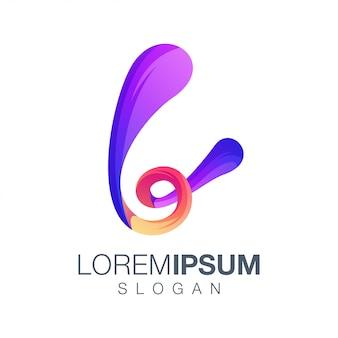 Letter l inspiration gradient color logo design