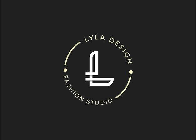 Буква l логотип дизайн шаблона иллюстраций