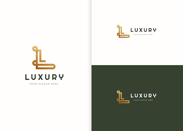 Буква l роскошный шаблон дизайна логотипа