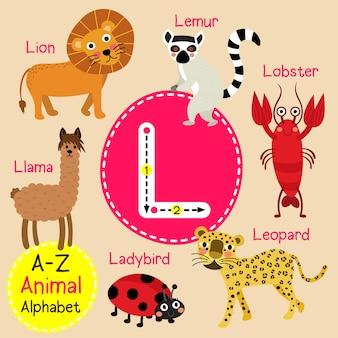 手紙l動物園のアルファベット