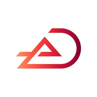Letter a and letter d initial logo