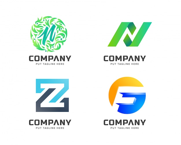 Letter logo collection, abstract logotype for business company