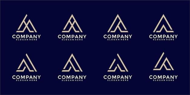 A letter logo collection monogram