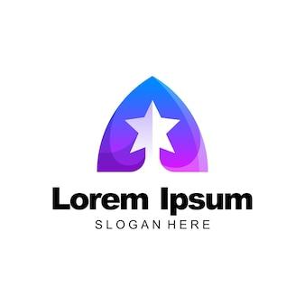 Letter a logo colorful gradient template design
