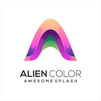 A letter logo colorful illustration