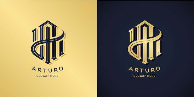 Letter a logo decorative style
