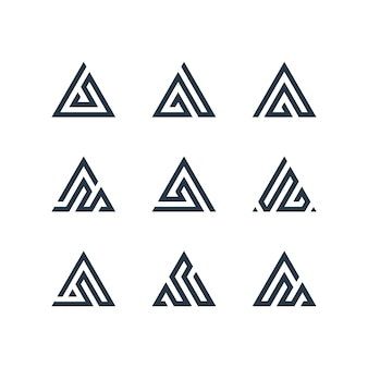 Letter a logo design bundle
