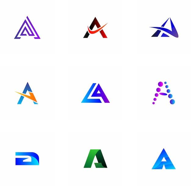 A letter logo design for company