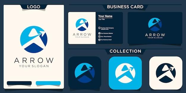 Letter a logo design with arrow symbol