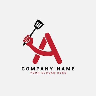 A letter logo, a food letter logo