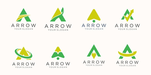 Letter a logo icon set.