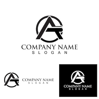 A letter logo icon template