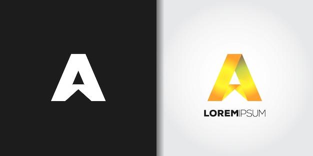 Letter a logo set
