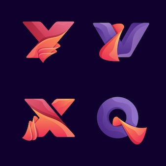 Letter logo set
