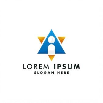 Шаблон письма логотип. алфавит символ значок иллюстрации