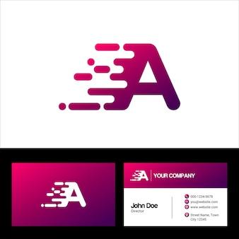 Letter a logo template, business card vector template illustration design