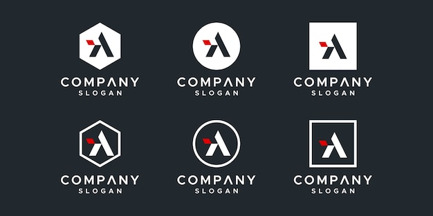 A letter logo template collection