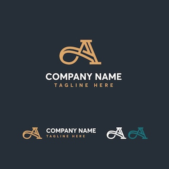 Letter a logo template