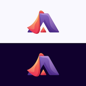 Letter a logotype