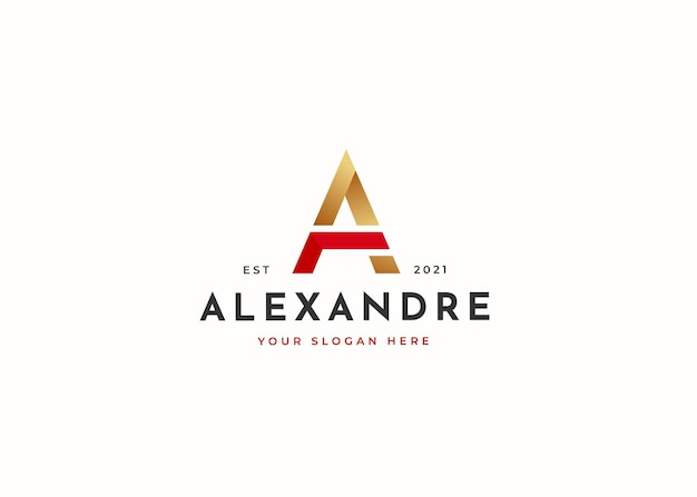 Letter a luxury logo design template. vector illustrations