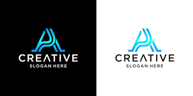 Letter a luxury logo design