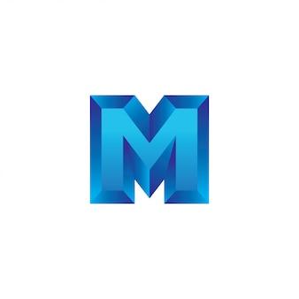 편지 m 3d 로고