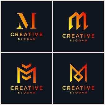 Letter m bundel logo