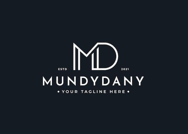 Письмо md логотип дизайн шаблона