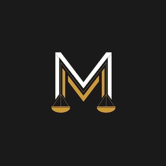 Letter m логотип юридической фирмы Premium векторы