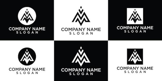 Буква м логотип коллекция бесплатно