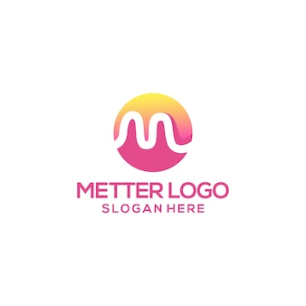 テンプレートの文字mロゴデザイン