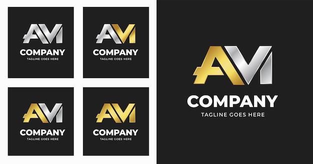 Letter a m logo design template